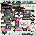 Ridgetop Digital Shop | Photo Booth Props | Graduation | Class of 2017