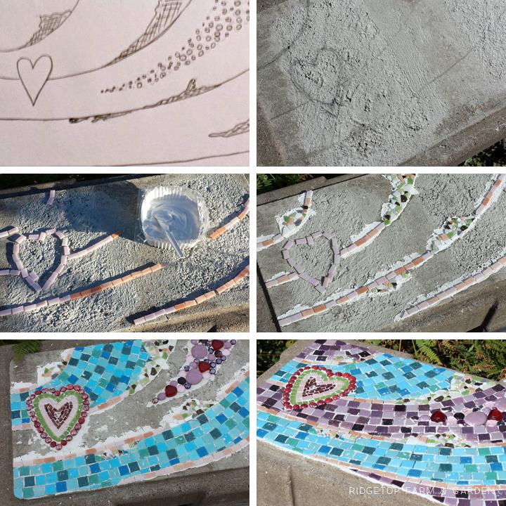 Ridgetop Farm & Garden   Bench Seat Mosaic
