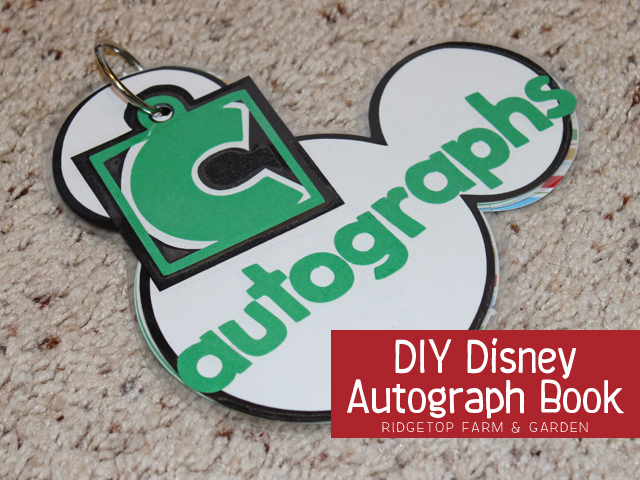 Ridgetop Farm & Garden | DIY Disney Autograph Book