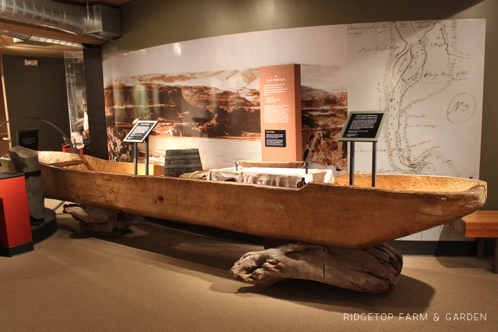 Lewis Clark Interpretive Center dugout canoe