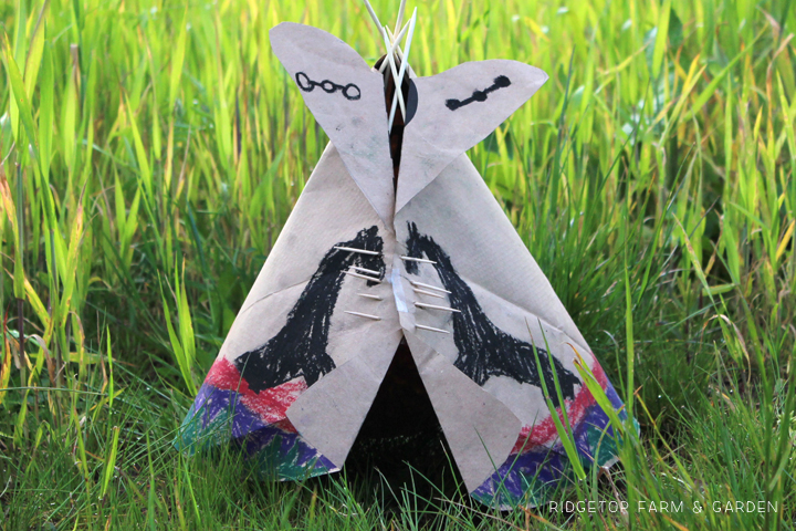 Ridgetop Farm & Garden | Paper Bag Teepee Craft