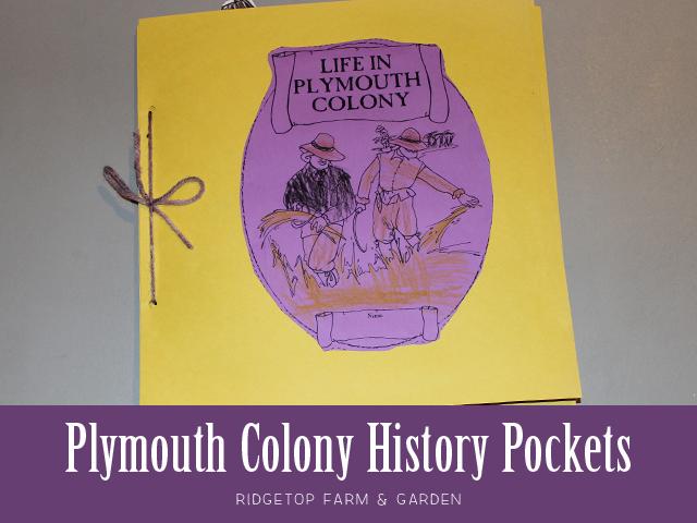 Ridgetop Farm & Garden | History Pockets | Plymouth Colony
