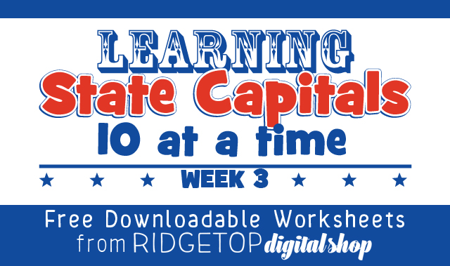 Ridgetop Farm and Garden | Learn State Capitals | Week 3 | free printable