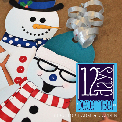 12 Days: Build Your Own Snowman Gift Tags