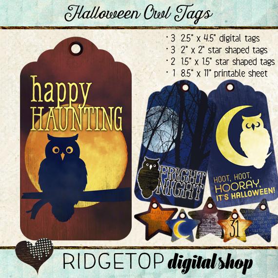 Ridgetop Digital Shop | Tags | Halloween | Owl |Moon