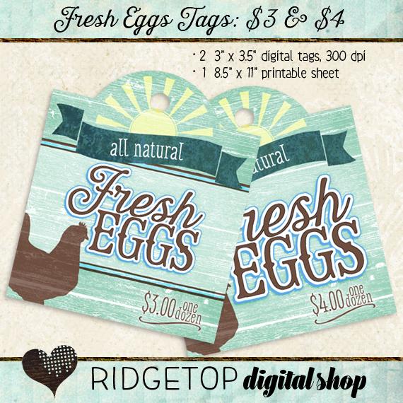 Ridgetop Digital Shop | Tags | Fresh Eggs | For Sale | $3 | $4 | Dozen