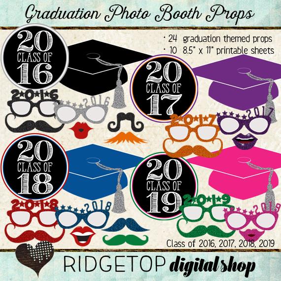 Ridgetop Digital Shop | Photo Booth Props | Class of 2016 | 2017 | 2018 | 2019 | Graduation