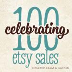 Celebrating 100 Etsy Sales