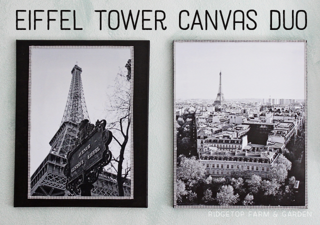 Eiffel Tower Canvas Duo - title