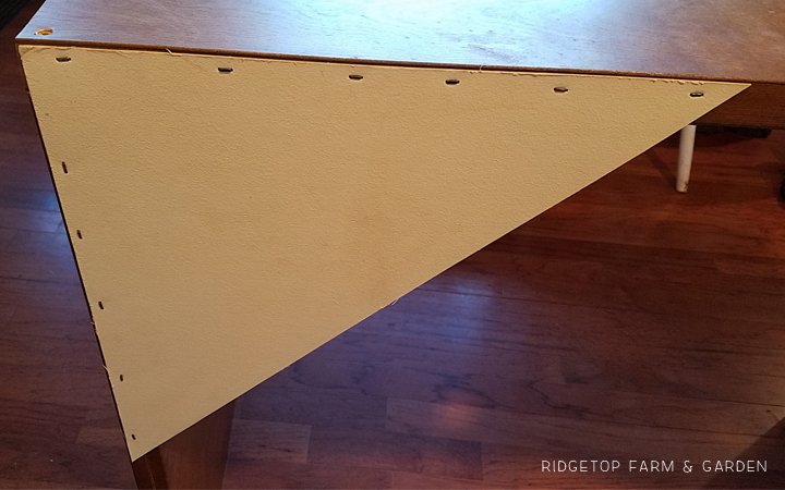Ridgetop Farm and Garden | Project Upcycle | Closet Door Turned Hall Table