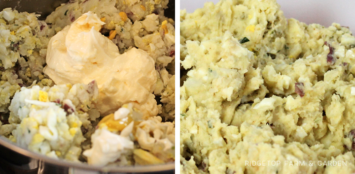 Ridgetop Farm and Garden | Recipe | Smashed Potato Salad