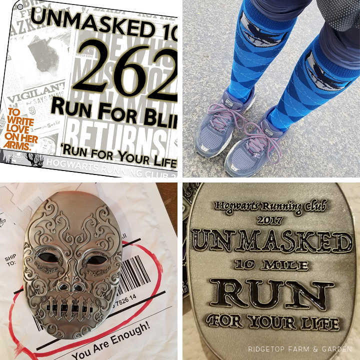 Ridgetop Runner | 2017 Race Recap | Hogwarts Running Club | Unmasked 10 mile