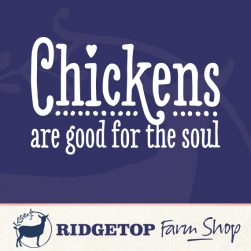 Ridgetop Farm Shop | Chickens are Good for the Soul Vinyl Decal