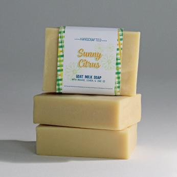Ridgetop Farm and Garden | Goat Milk Soap | Sunny Citrus