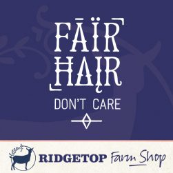 Ridgetop Farm Shop | Fair Hair Don't Care Vinyl Decal