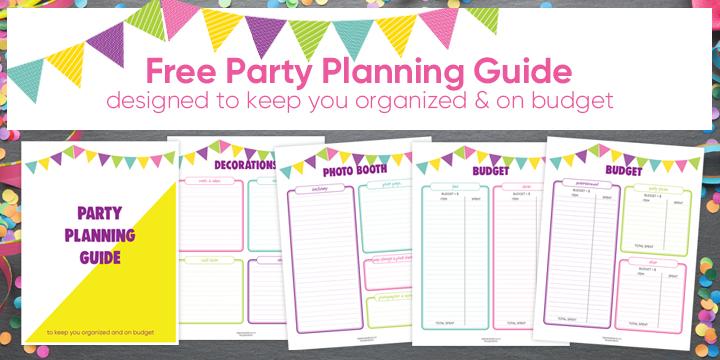 Free Party Planning Guide Printable   Ridgetop Digital Shop
