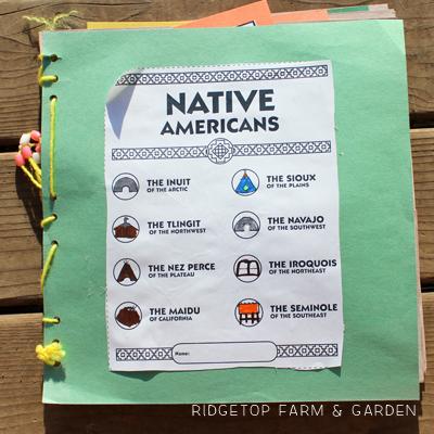 Native American History Pockets