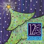 12 Days: Christmas Tree Canvas Painting Tutorial