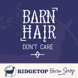Ridgetop Farm Shop | Barn Hair Don't Care Vinyl Decal