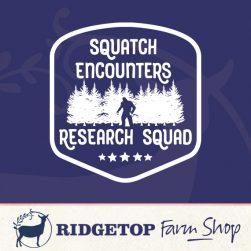 Ridgetop FArm Shop | Squatch Encounters Vinyl Decal